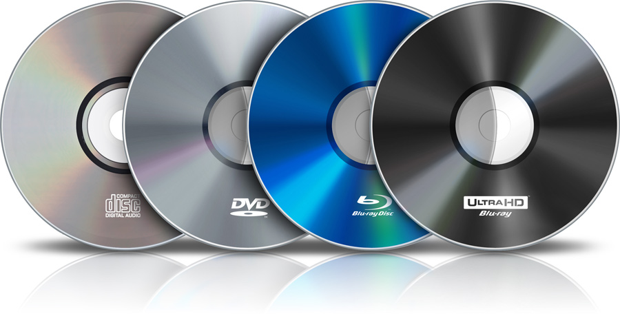 CD DVD Blu-Ray UHD